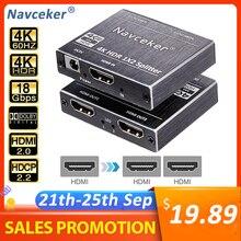 2020 ZY HS20B UHD HDMI 2.0 الخائن 1x2 4K 60Hz HDMI 2.0 الخائن HDCP 2.2 الخائن HDMI 2.0 1 في 2 خارج ل PS4 XBox العارض