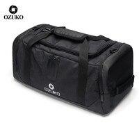 OZUKO Männer Gepäck Tasche Seesack Rucksack Wasserdichte Reisetaschen Große Kapazität Oxford Männlichen Freizeit hand tasche Mode Schulter