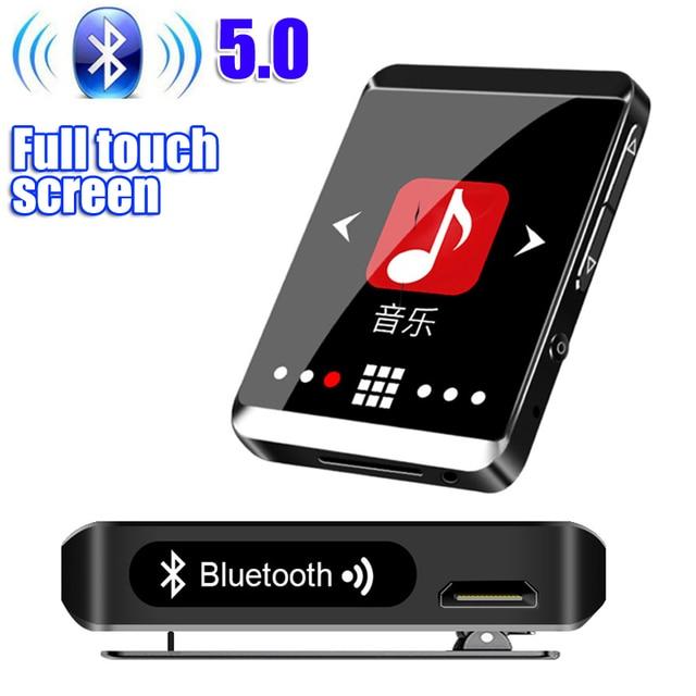 RUIZU M5 Full Touch Screen Portable MP3 Player 8GB/16GB Sport Bluetooth MP3 Player Support FM,Recording,E Book,Clock,Pedometer