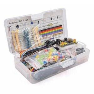 Diy Electronics Basic Starter Kit Breadboard Jumper Wires Resistors Buzzer For Arduino R3 Mega256