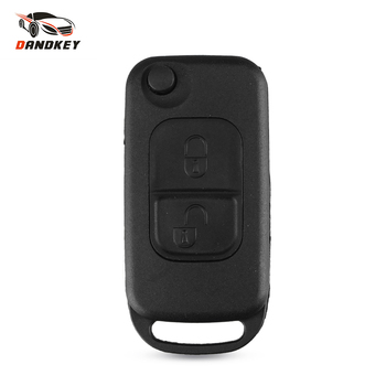 Dandkey 1/2/3/4 Buttons Car Remote Folding Flid Key Shell Uncut HU64 Blade Cover For Mercedes For Benz B200 A160 W124 W202 W210 image