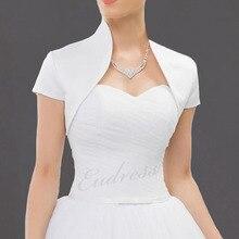 Red Evening Cape Short Sleeve Wedding Cape Satin Bolero Jackets For Bridal Party Coat Cape De Mariage