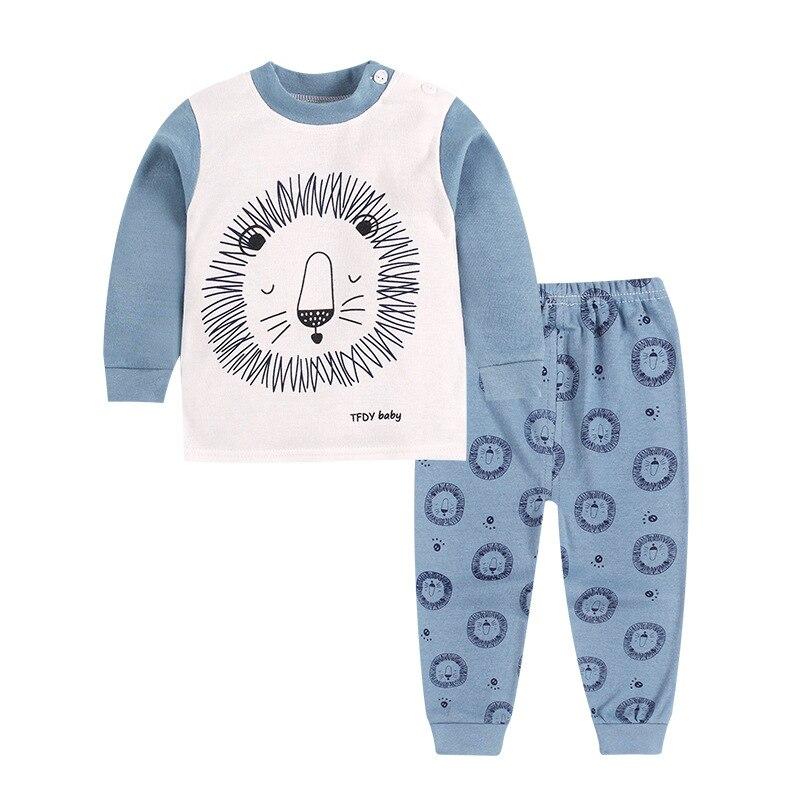 TUONXYE Children's Pajamas Kids Cartoon Lion Pajamas Set Baby Boys Long Sleeve Pyjamas Child Pijama Infantil Girls Night wear 3