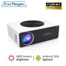 Светодиодный проектор TouYinger Q9 Full HD для дома, 6800 люмен (Android 10.0 Wifi Bluetooth опционально проекторы) ЖК-проектор для фильмов, домашний кинотеатр с ви...