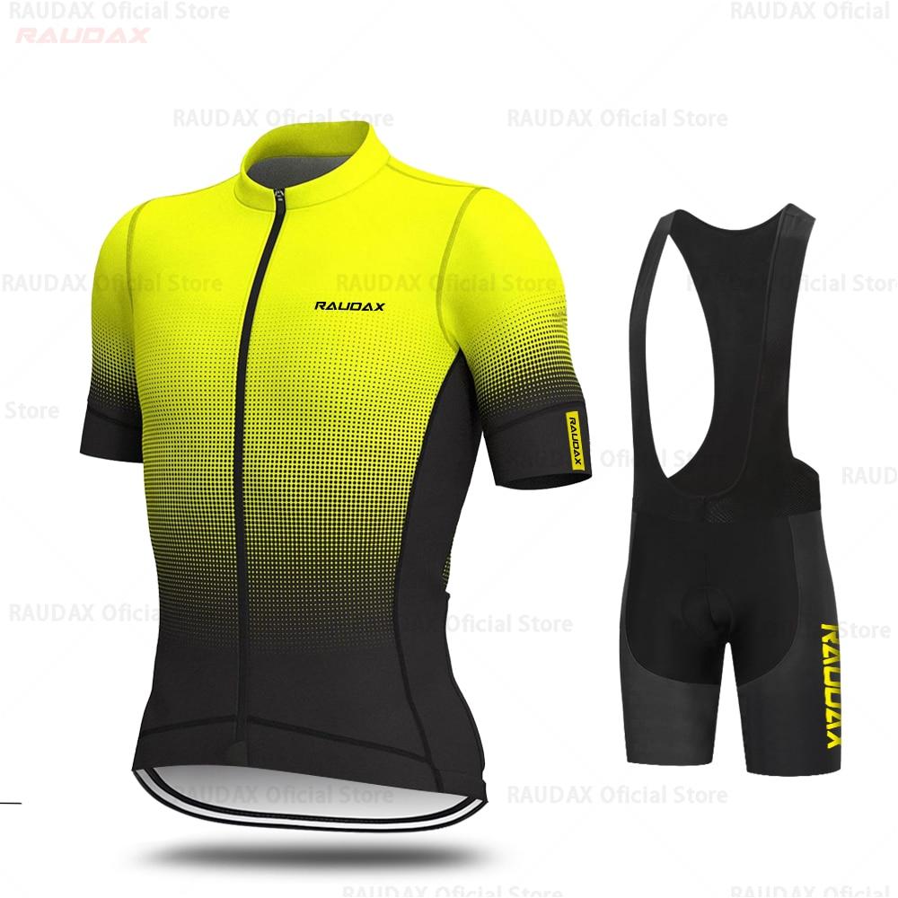 Aleing Cycling Jerseys Set 2019 Fluorescent Yellow Cycling Clothing MTB Cycling Bib Shorts Bike Jerseys Triathlon Ropa Ciclismo|Cycling Sets| |  - title=