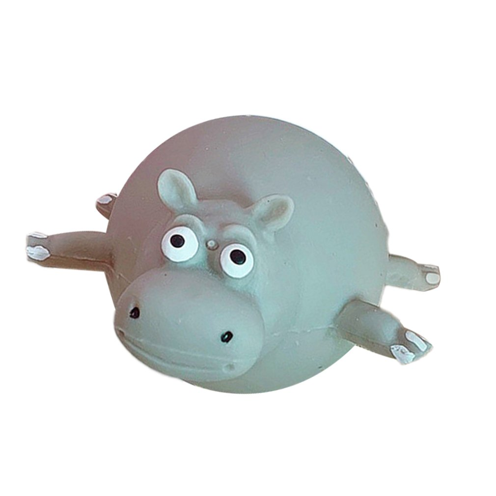 Blowable Animal Venting Toy Hippo Elephant Pig Venting Toy Squeezing Music Student Decompression Toy