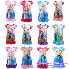 2021 Fashion Children's Clothing Sleepwear Robe Nightgowns Girls Anna Elsa Princess Nightdress Kids Pajamas 3-9Years