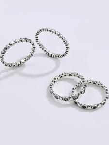 925-Sterling-Silver Ring Wedding-Rings Fine-Jewelry Heart Hot-Sale Women Love Original