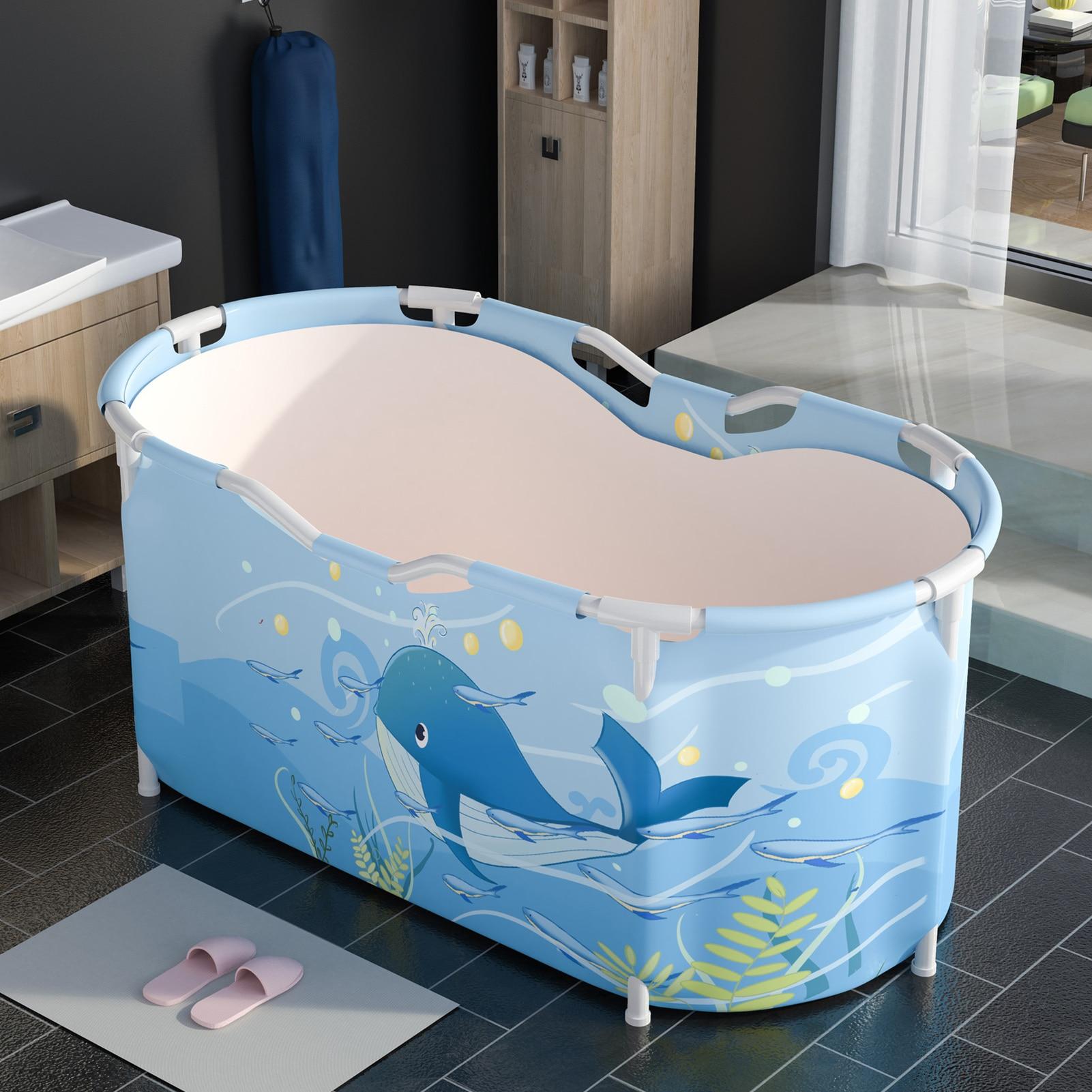 Large Bathtub Adult Bath Tub Barrel Sweat Steaming Plastic Thicken Portable Bathtub Home Sauna Insulation Folding Bath Bucket