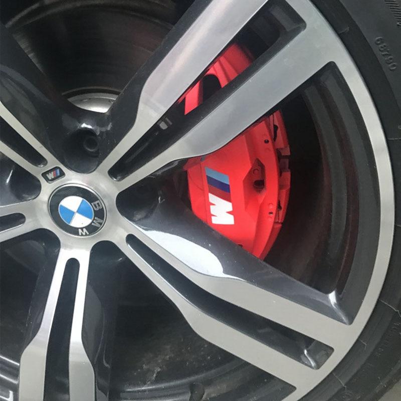 4pcs Car Rearview Mirror Steering Wheel Sticker Car Brake Caliper Decoration Sticker Decal For BMW M3 M5 M6 X1 X3 X5 E34 E39 E36