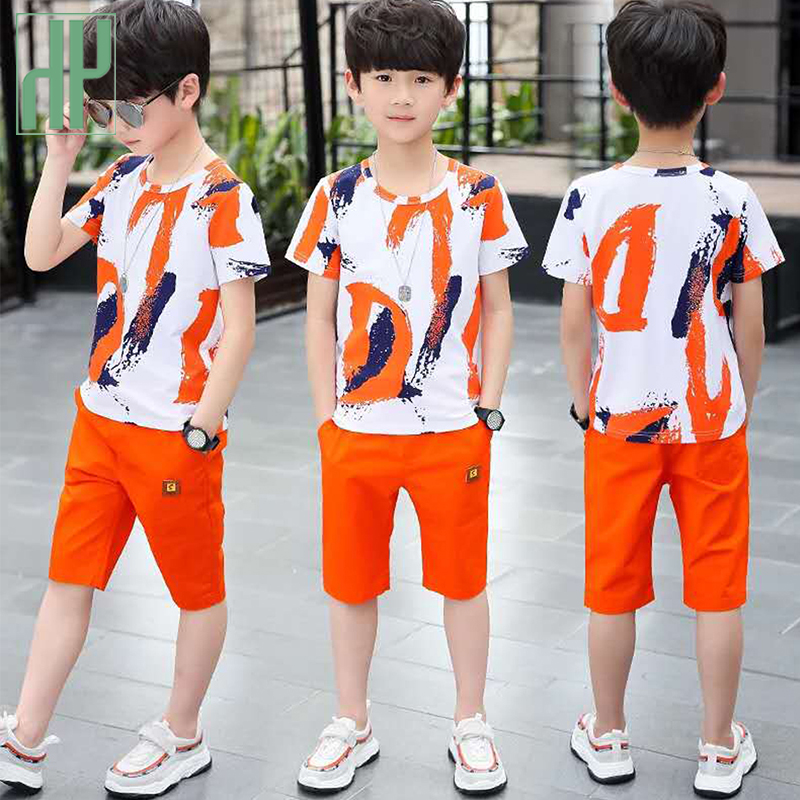 Kids Boys clothes summer outfits Cotton Teenage Boys Clothing casual Suit Children Short Sleeve Shirt Shorts Set 4 6 8 12 Years Boy Kids