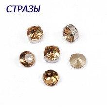 CTPA3bI 1357 Brilliant Cut Natural Stone Beads For Jewelry Making 246 Light Rhinestone Yellow Crystal Luxury Point Back Strass