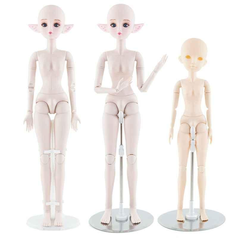 OOTDTY 1pcs Silber 1/3 1/4 Bjd puppen Display Stand Halter 60cm 50cm SD Bjd Puppen Zubehör spielzeug