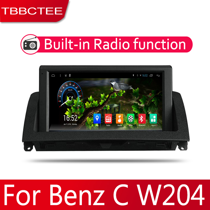 2din Car multimedia <font><b>Android</b></font> <font><b>Autoradio</b></font> Car Radio GPS player For Mecerdes Benz C <font><b>W204</b></font> 2007~2011 Bluetooth WiFi Mirror link Navi image