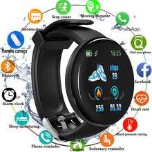 2020 Bluetooth akıllı saat erkekler kan basıncı yuvarlak Smartwatch kadınlar akıllı bilezik su geçirmez spor izci Android IOS için