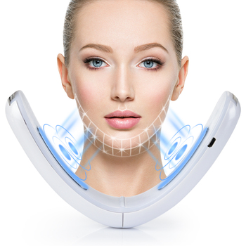 Chin V-Line Tape Face Lift Belt Blue Red LED Photon Therapy Galvanic Massage Facial Lifting Device ems rf Slimming Skincare 1