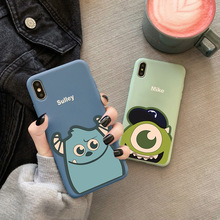 Mike and sulley cartoon case lovers for iphone