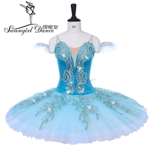 adult green sleeping beauty variation professional tutu child competition performance ballet stage costumes girls BT9153B