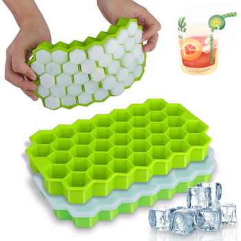 Tacki na kostki lodu o strukturze plastra miodu z wymiennymi pokrywkami żel krzemionkowy forma kostki lodu BPA bezpłatny wielokolorowy miękki klej jest łatwy do czyszczenia tanie i dobre opinie SMONSDLE Urządzenia do lodów CN (pochodzenie) Ekologiczne Przybory do lodów SILICONE 20*11*2 5 CM Ice Cream Makers Jelly pudding Ice Cubes