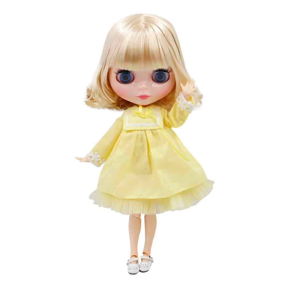 DBS BJD Blyth הבובה משותף גוף קצר שמן שיער וטבעי עור מבריק פנים מיוחד מחיר קפוא Licca צעצוע ילדה מתנה 1/6
