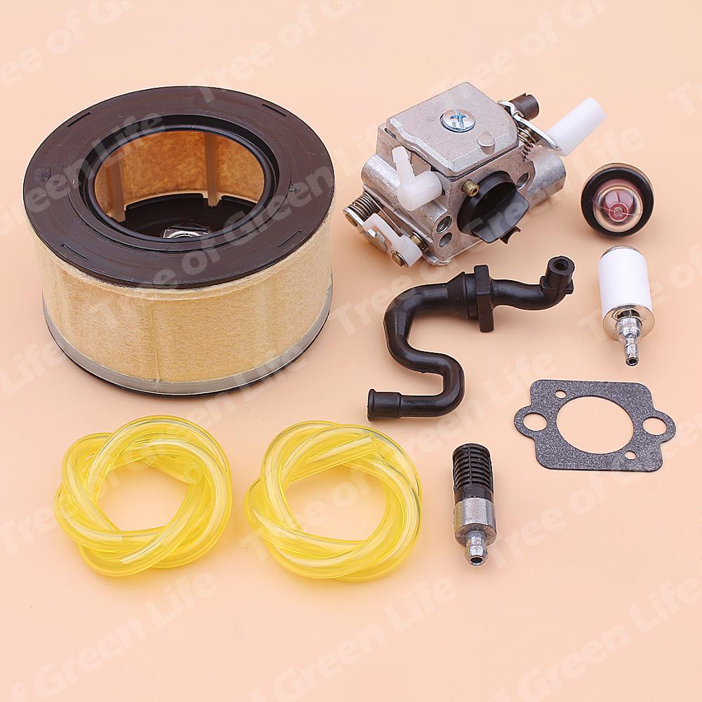 home improvement : Carburetor Carb For Stihl MS251 MS 251 Air Fuel Oil Filter Line Primer Bulb Kit Chainsaw 1143 120 0617