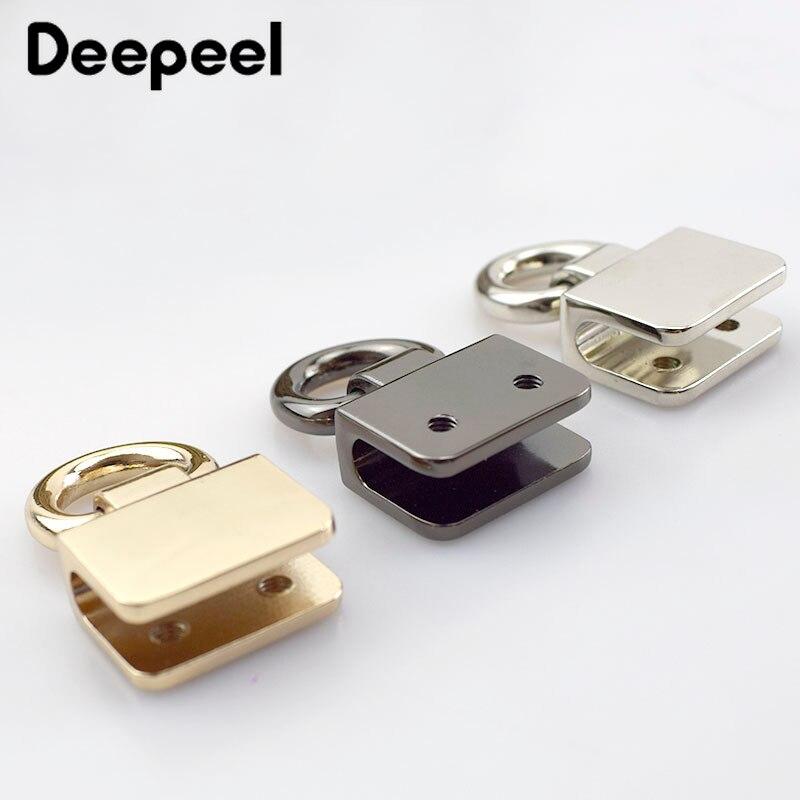 2/4/10pcsMetal O D Rings Side Clip Buckle DIY Shoes Garment Belts Handbag Hanging Hook Strap Chain Hardware Accessory