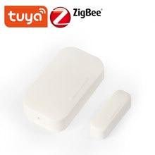 Détecteur d'ouverture/fermeture de porte intelligent Tuya ZigBee, Compatible avec Alexa Google Home IFTTT Tuya/Smar tLife APP