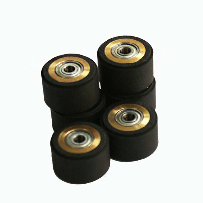 10pcs Pinch Roller Roland Mimaki GCC Liyu Graphtec Inkjet Printer Vinyl Cutter Cutting Plotter Roll 5x11x16mm Rubber Copper Core