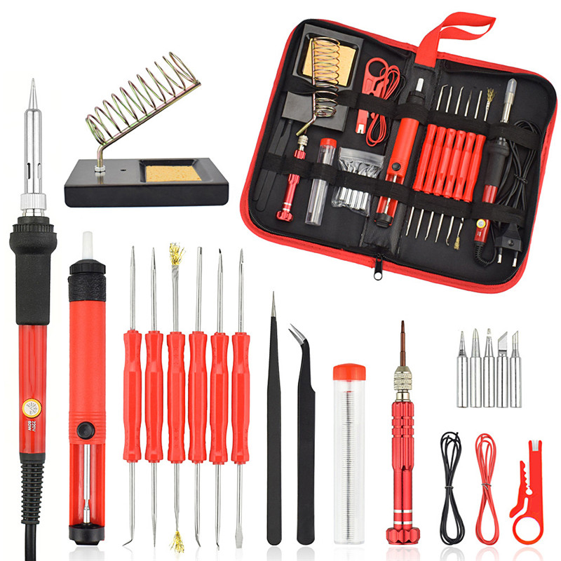 26 Kit 60w Soldering Iron Kit Electronic Welding Soldering Iron Electronic Maintenance Support Tin Welding T4062