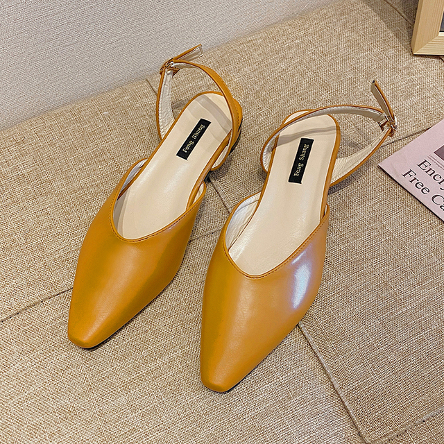 Slip On Mules Women Shoes Pointed Toes Ladies Flat Shoes Comfort Summer Soft Sexy Close Toes Sandals 2020 Low Heels Shoes Women