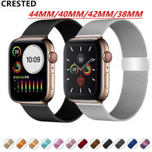 Milanese Loop Strap For Apple Watch band pulseira apple watch 4 5 3 band 44mm/40mm iwatch 5 42mm 38mm correa watchband bracelet цена и фото