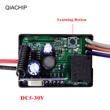 QIACHIP 433Mhz 6V 12V 24V Relay receiver Module Universal Wireless Remote Control Switch DC5 30V control remoto porton electico