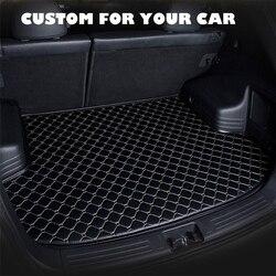 SJ مخصص مقاوم للماء سيارة فرش داخلي للسيارات والشاحنات السيارات الذيل التمهيد صينية بطانة البضائع وسادة واقية صالح لل Volkswagen VW TIGUAN-L 2017 2018 2019