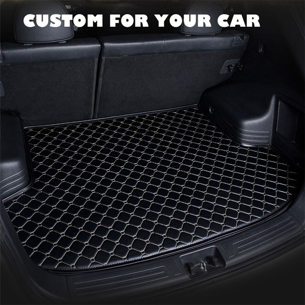 SJ Custom Waterproof Car Trunk Mat AUTO Tail Boot Tray Liner Cargo Pad Protector Fit For Volkswagen VW TIGUAN-L 2017 2018 2019