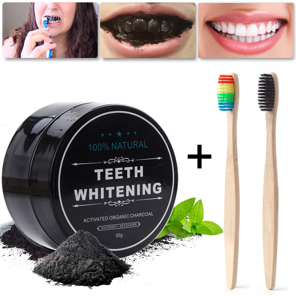 30g Teeth Whitening Charcoal Powder Natural Stain Remove Bamboo Activated Carbon Teeth Whitener Dental Oral Hygiene Tooth Care(China)
