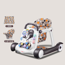 Safety baby walker anti-rollover multi-function with music baby 6/7-18 months hand push can sit children's walker 2018 hot foldable baby learning multifunctional baby walker with 6 wheels anti rollover walker car walking assistant music light 7 18 m