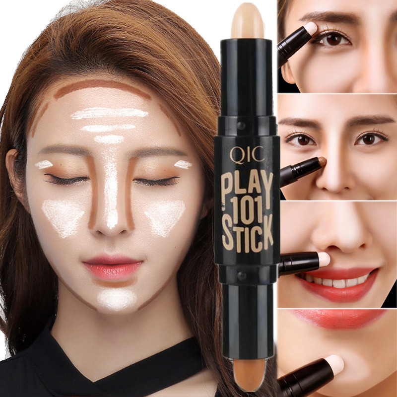 Lady Highlighter Face Concealer Highlight Foundation  Base Contour Stick Beauty Make Up Face Corrector Bronzers Highlighters Pen