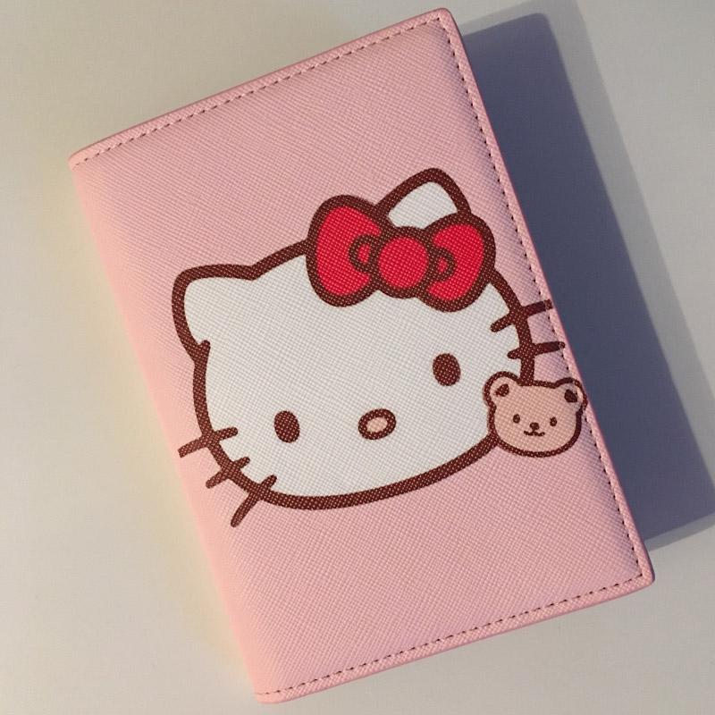 2019 Fashion Cartoon Kt Cat Passport Holder PU Leather Travel Passport Cover Case Card ID Holders Russian Driver License