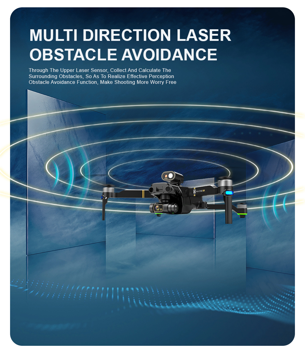 H01d256c0d2fa4030a827d127f9271d6bc - KAI ONE MAX GPS Drone 4K Camera 5G FPV WiFi Laser Obstacle Avoidance Altitude Hold Brushless RC Quadcopter Profesional Dron