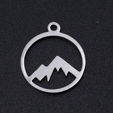 5 pçs/lote 100% encantos de montanha de aço inoxidável atacado jóias fazendo encantos pulseiras pingentes de alta qualidade aceitar o pedido oem