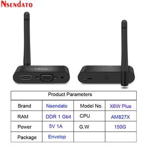 Image 1 - Mirascreen X6W Plus Wireless Miracast 5G 4K TV Stick Adapter 3 In 1 HD VGA AV 1080PตัวรับสัญญาณWifi Dongle