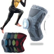 Spring Sfit Knee Protector Brace Silicone Spring Knee Pad Basketball Knitted Compression Elastic Knee Sleeve Support Safety Knee spring knee booster removable spring adjustable knee support pad sleeve knee support knee