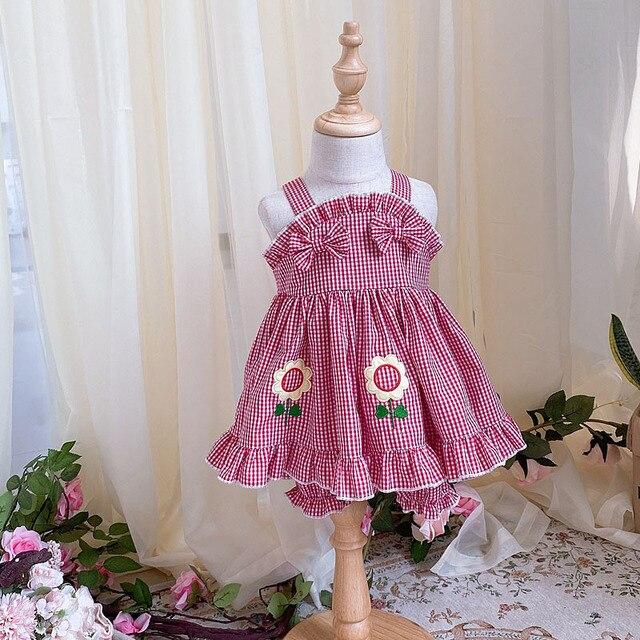 Фото детское летнее короткое платье в стиле «лолита» с подсолнухами цена