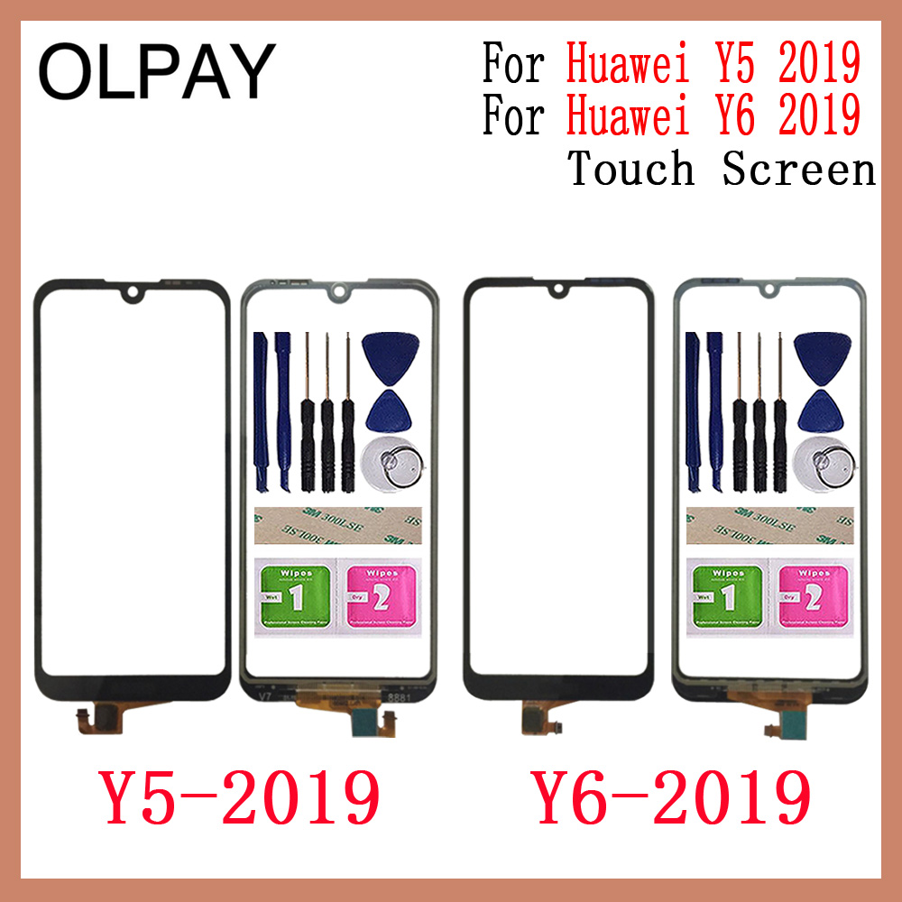 OLPAY AAA New TouchScreen For Huawei Y5 2019 Touch Screen Digitizer For Huawei Y6 2019 Touch Panel Touch Screen Sensor Glass