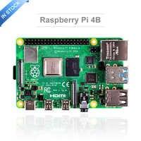Dernière framboise Pi 4 modèle B avec 1/2/4GB RAM BCM2711 Quad core bras de Cortex-A72 v8 1.5GHz soutien 2.4/5.0 GHz WIFI Bluetooth 5.0