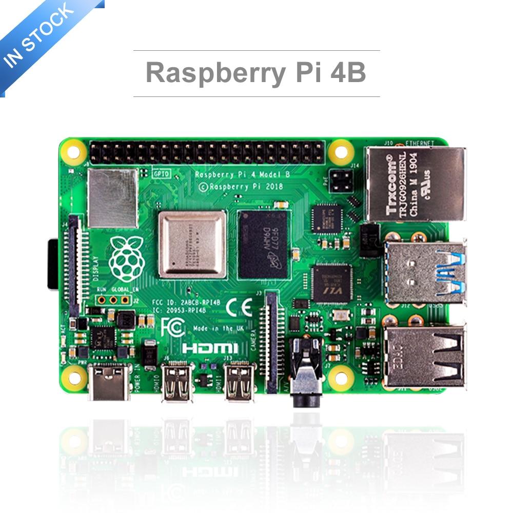 Latest Raspberry Pi 4 Model B with 2 4 8GB RAM raspberry pi 4 BCM2711 Quad core Cortex-A72 ARM v8 1 5GHz Speeder Than Pi 3B