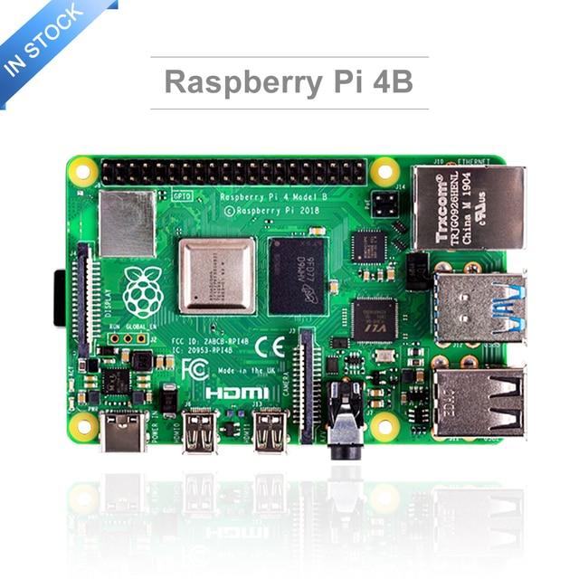 Mais recente raspberry pi 4 modelo b com 2/4/8gb ram raspberry pi 4 bcm2711 quad core Cortex A72 braço v8 1.5ghz speeder do que pi 3b