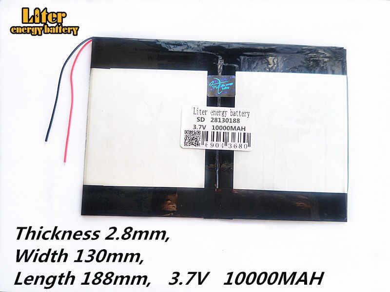 Tablette PC talk9x u65gt, batterie 28*130*188 3.7V 10000 mah li-ion batterie 'pour