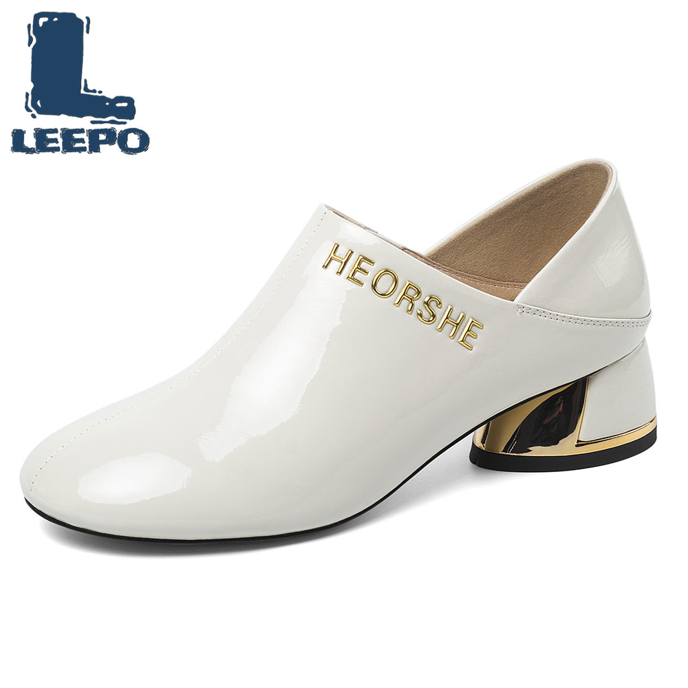 Pumps Women Shoes Cow Leather Spring Autumn Beige Lace-Up Square Toe Female Luxury Party Thick Pumps Woman\'s Shoes with Heels 2