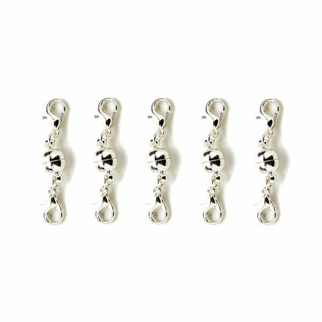 5X Magnetic Ball Clasp Double Hook DIY Bracelet Necklace Chain Jewellery Making